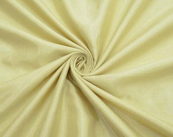 "Silk Dupioni Fabric, Beige Shantung Fabric, Event Decor, Sewing Crafts, 45"" Inch Apparel Fabric By The Yard ZSH4D"