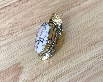 Vintage Tree Agate Ring