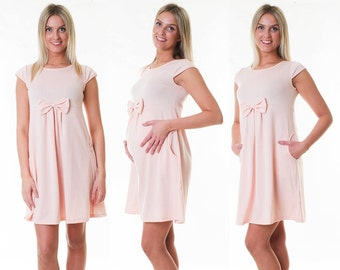 Dress maternity dress loop Summerdress maternity dress pink