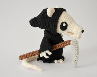 Crochet PATTERN No 1712 Death of Rats - reaper by Krawka,