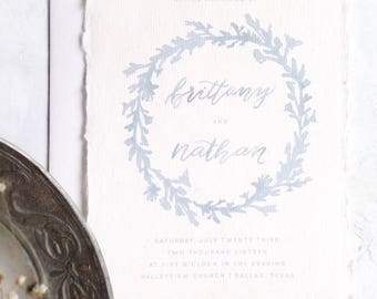 Calligraphy Wedding Invitations // Semi-Custom Invitation Suite // Handmade Paper // Wedding Invitation Suite // JUNIPER