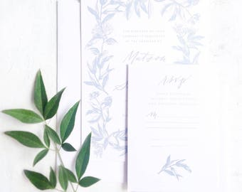 Calligraphy Wedding Invitations // Semi-Custom Invitation Suite // Handmade Paper // Wedding Invitation Suite // WILLOW