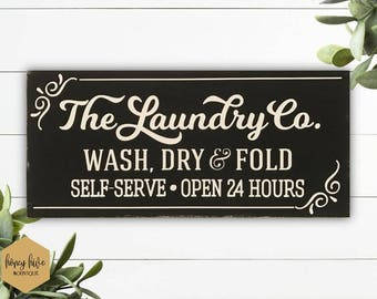 Distressed Laundry Sign Laundry Decor  Etsy