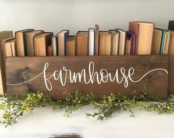 Farmhouse - Wood Sign