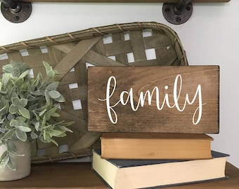 Family - Wood Sign