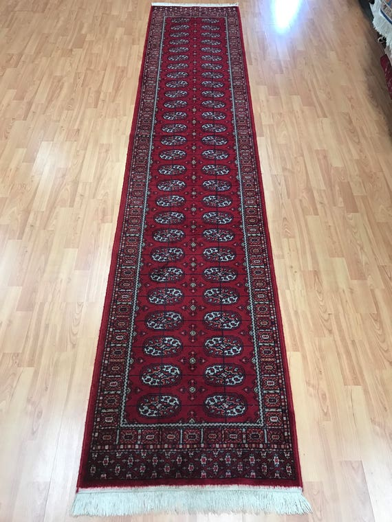 "2'2"" x 11' Turkish Bokhara Floor Runner Oriental Rug - Hand Made - 100% Wool"