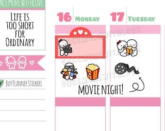Munchkins -  Cinema Movie Date Night Planner Stickers (M370)