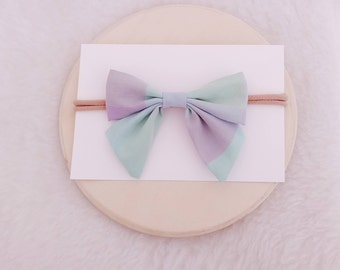 Hair bow, baby headbands, pastel bow, plaid bow