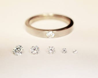 set in DIAMOND wedding ring