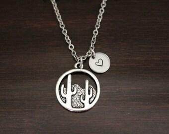 Cactus Necklace - Cactus Gift - Cactus Lover - Cactus Jewelry - Desert Necklace - Desert Jewelry - Cacti Necklace - Desert Lover - I/B/H