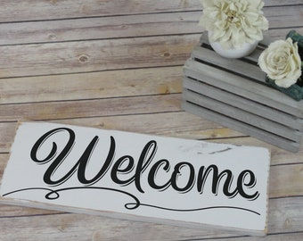 Welcome SVG - Family SVG - Welcome Sign - Home SVG - Home Decor - Welcome Home svg - Farmhouse - Files for Silhouette Studio/Cricut Design