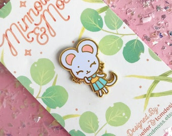 Tiny Mouse Hard Enamel Pin - Standard (A) Grade
