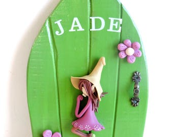 Personalized door JADE. invite fairies to enter your home!