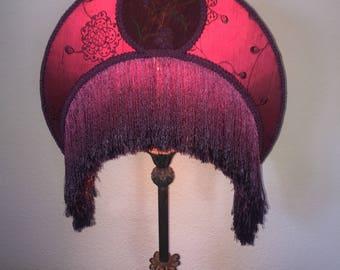 Cabernet Crescent Moon Victorian Lampshade