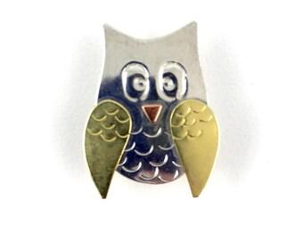 Owl Needle Minder Puffin Needle Nanny Copper Knitting Pattern Holder Owl Needle Keeper Needle Accessory Needlepoint Crewel Sewing Notion