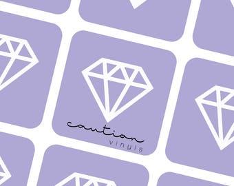 Geometric Diamonds Nail Vinyl Decal - Nail Vinyl for Nail Art