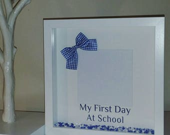 My First Day At School Frame, First Day At School, Our First Day At School, School Keepsake, School Gingham Bow Keepsake Frame