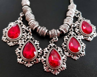 Byzantine style ethnic necklace