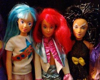 Vintage 1980s Hasbro JEM and The Holograms  & Misfits Dolls!!!!! Nice HTF Dolls!!