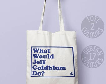 Jeff Goldblum reusable bag, eco friendly bag, cotton tote bag, holdall, personalized gift for her, 80's film, the fly, jurassic park