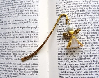 Angel book mark, Guardian Angel page marker, Filigree angel marker, Golden  angel book mark, Metal book mark, White Angel