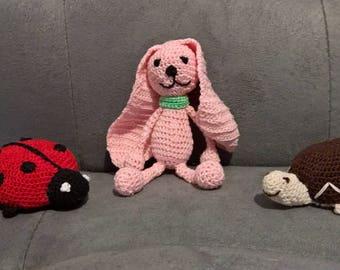 Mini animals crocheted ladybug, turtle, rabbit, decoration.