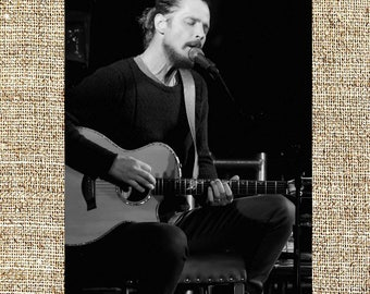 Chris Cornell photograph, black and white photo print, vintage photograph, rip Chris Cornell, rock music decor, gift for him
