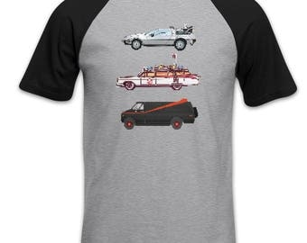 80s Pixel Cars short sleeve baseball t-shirt