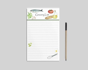 Grocery list notepad - Instant download, grocery shopping list pad, shopping list notepad, weekly groceries. Grocery list printable PDF.