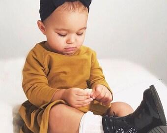 Black Baby Headband / Baby Headband / Toddler Headband / Baby Shower / Baby Bow / Newborn Gift /Baby Gift