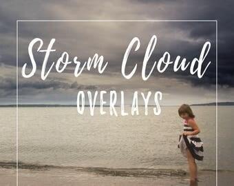Storm Cloud Overlays 12pk of dark moody cloudy overcast sky
