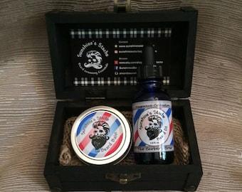 Beard Oil & Balm Grooming Kit (Black Box)
