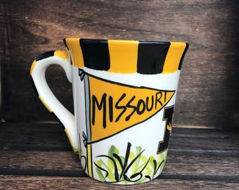 University of Missouri Tigers Mizzou Ceramic Coffee Mug Soy Candle, Hand Poured, Choose Your Scent