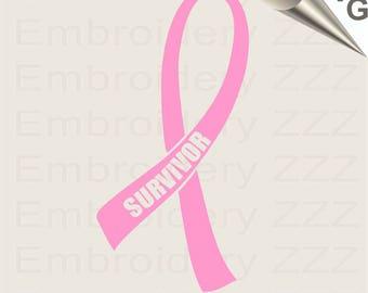 Cancer Survivor svg, Awareness Ribbon SVG file, survivor printable, survivor cutting file, survivor ribbon svg, cuttable files, cancer svg