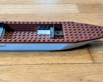 Lego Boat 92710c03 Albatross, Brown with Gray Base, OUT OF PRODUCTION, Like-New