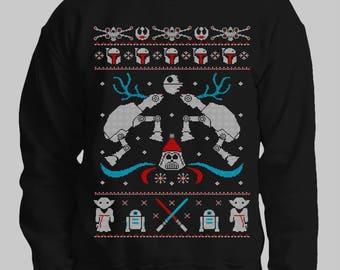 Star Wars Sweater / Imperial Walker Christmas Jumper / Sweatshirt