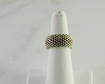 Tiffany & Co Sterling Mesh Ring (Size 6.25-6.5)
