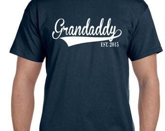 Grandad, Grandad Shirt, Granddaddy T Shirt,Personalized Grandparent Gifts, Fathers Day gift, Father's Day New Grandaddy, Since Any Year