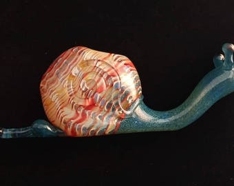 Full Colored Glass Snail Pipe