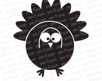 Turkey SVG - Turkey Clipart - Turkey SVG Files - Turkey SVG Cut File - Turkey Silhouette and Cricut Cut File