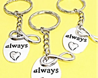 SET OF 3 Always pendant, always harry potter, always keychain, always humble and kind, always and forever jewelry, keychain gift, always
