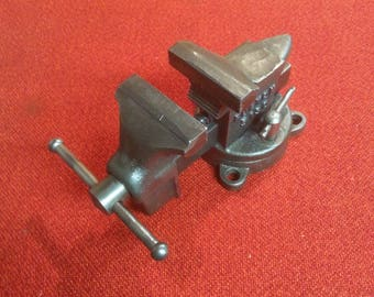 "Vintage Fulton Swivel Base Anvil Vise No 5190 Quality 3"" Adjustable Tool"