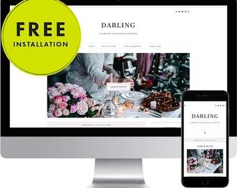 Premade Blogger Template - Responsive Blogger Template - Modern Blogger Template - Feminine Template - Slideshow - Blog Design - Darling