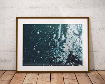 Sea Ocean Wall Decal, Ocean Water Decor, Modern Water Print, Large Vertical Art, Abstract Water Decor, Minimalist Ocean Art, Aquamarine Art