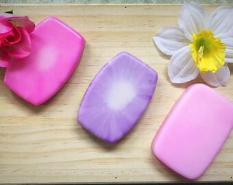 Spring Soap Gift Set: floral soap gift set, spring soap set, spring soap gift floral soap flower scented soap soaps of spring goat milk soap