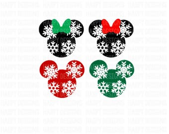 Minnie Mouse Snowflake Svg, Mickey Mouse Snowflake SVG, Christmas SVG, Mickey Mouse Ears SVG, Cricut Cut Files, Silhouette Cut Files