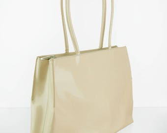 Coccinelle leather shopper beige