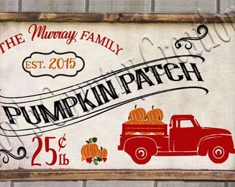 Pumpkin Patch 25 cents Truck    SVG, PNG, JPEG