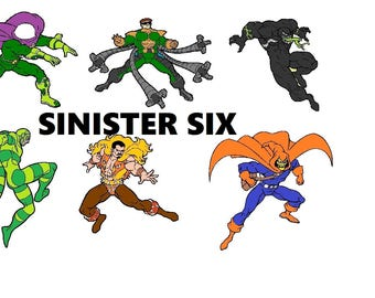 Custom made Sinister six team ready to take on Spiderman