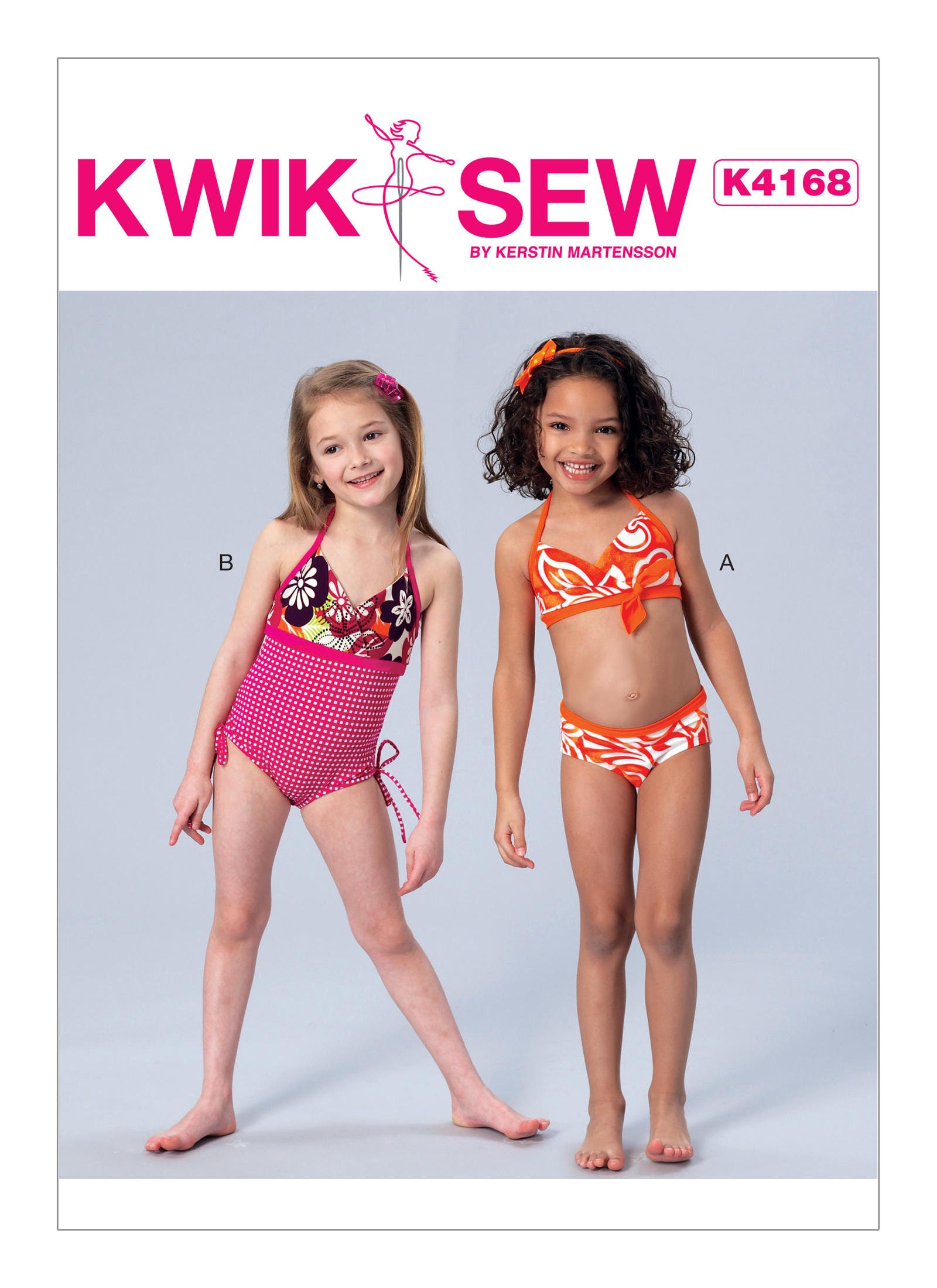 Sewing pattern for girls halter bikini one piece swimsuit kwik sewing pattern for girls halter bikini one piece swimsuit kwik sew pattern 4168 girls swim suit pattern jeuxipadfo Gallery